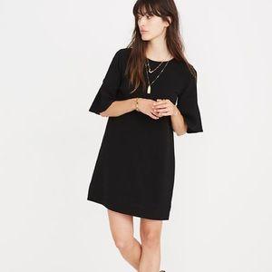 Madewell Flutter Sleeve Mini Dress in Black